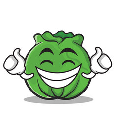 Proud cabbage cartoon character style vector