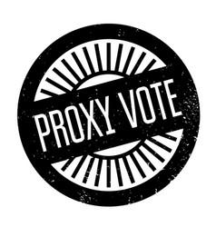 Proxy vote rubber stamp vector