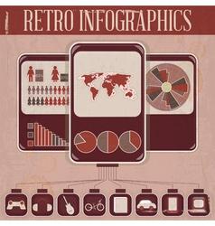 Retro Infographic Phone Design vector image