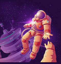 romantic date in outer space concept vector image