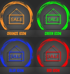 Sale tag icon sign fashionable modern style in the vector