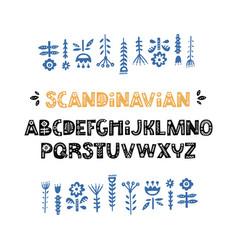 Scandinavian font vector