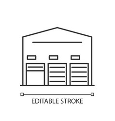 self storage unit pixel perfect linear icon vector image
