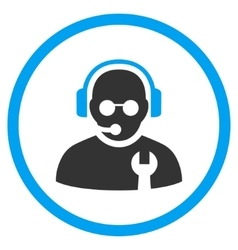 Service Operator Flat Rounded Icon vector image