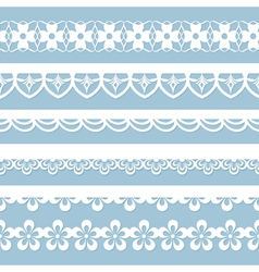 set of seamless laces vector image