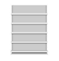 Store shelves vector