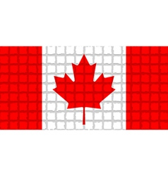 The mosaic flag of Canada vector