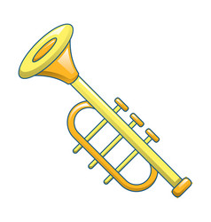 trumpet icon cartoon style vector image