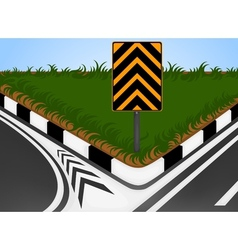 Turn left vector image