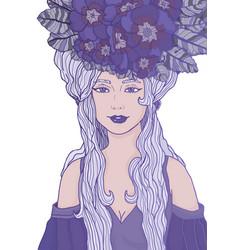 Ultraviolet fairy vector