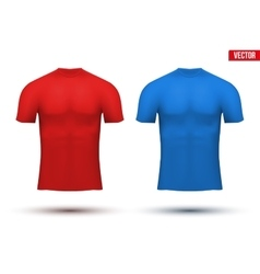 Under layer compression t-shirt of thermo fabric vector