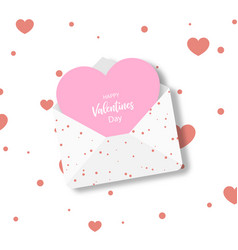 valentine day greeting card in the form of a vector image