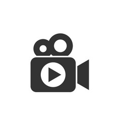 video camera icon in flat style movie play on vector image
