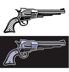 western pistol or revolver in vector image