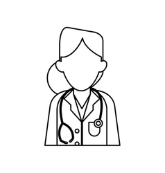 Woman doctor therapist stethoscope diagnosis vector