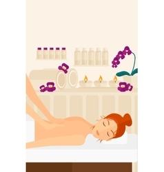 Woman recieving massage vector image