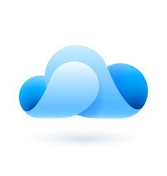 Abstract blue cloud vector