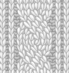 Seamless six-stitch cable stitch vector image vector image