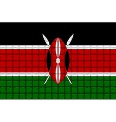 The mosaic flag of Kenya vector image vector image