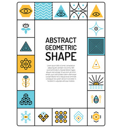 abstract geometric card vector image