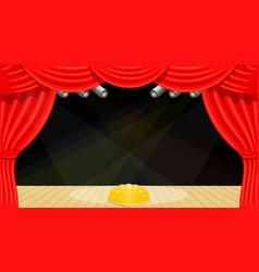 Cartoon theater theater curtain beams of vector