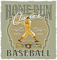 Home run Baseball classic vector image
