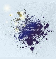 ink blots splash background vector image vector image