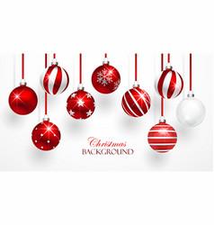Red Christmas Balls Set vector image vector image