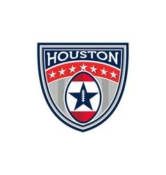 American football houston stars stripes crest vector