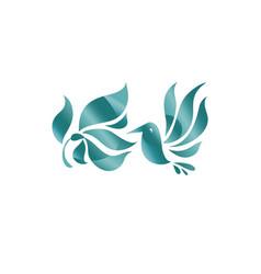 concept abstract hummingbird vector image