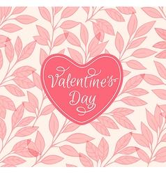 Decorative pink floral background vector