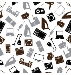 home electrical appliances gray pattern eps10 vector image vector image