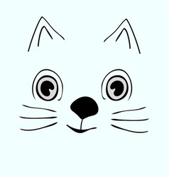 kitty cute funny cartoon cat head vector image vector image
