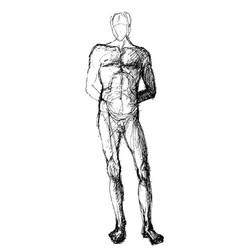 pen sketch of a man vector image