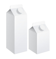 realistic carton of milk vector image