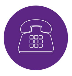 telephone service isolated icon vector image vector image