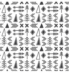 tribal hand drawn background geometric ethnic vector image