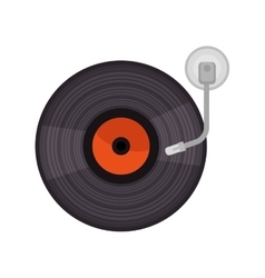 vinyl old player device vector image