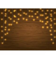 yellow LED Light Christmas Garland vector image vector image