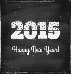 2015 chalk vector image vector image