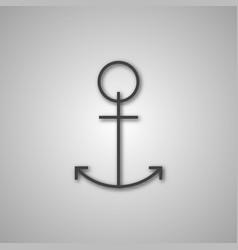 grey anchor icon vector image