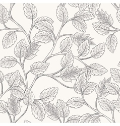Leaves Branch Pattern vector image vector image