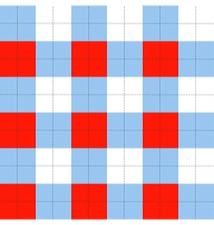Lines Dots Blue Serenity Red White Chessboard vector image