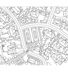 neighborhood outline vector image vector image