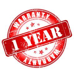 1 year warranty stamp vector