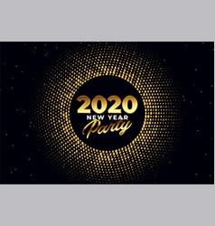 2020 new year party golden shiny background design vector image