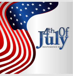 4th july usa independence day vector image