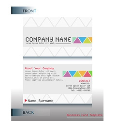 A business card vector image