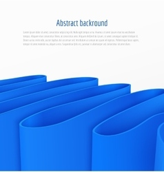 Abstract 3d blue paper ribbon background vector
