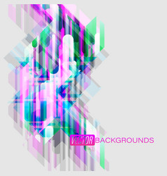 abstract colors shapes motion on a gray vector image